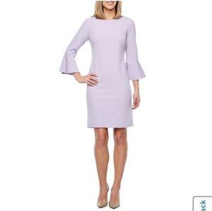 NWT Liz Claiborne 3/4 Bell Sleeve Sheath Dress